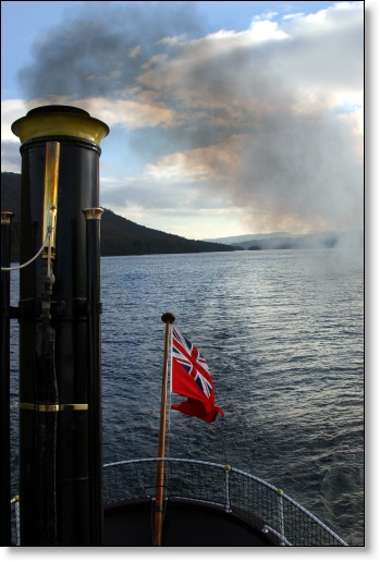 A photograph of Flag over cold water